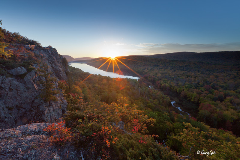 Lake of the Clouds Morning Sunrise with fall color in full bloom!