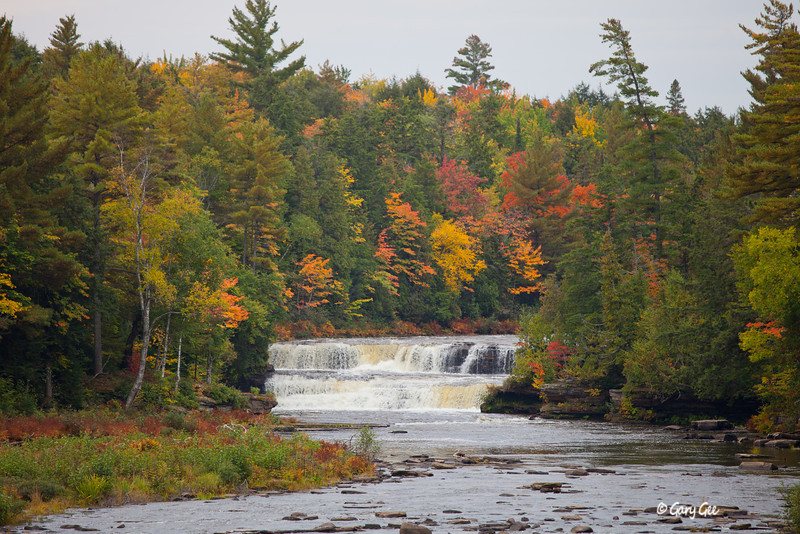 T-Falls Upper Peninsula, Michigan (Rainy day)