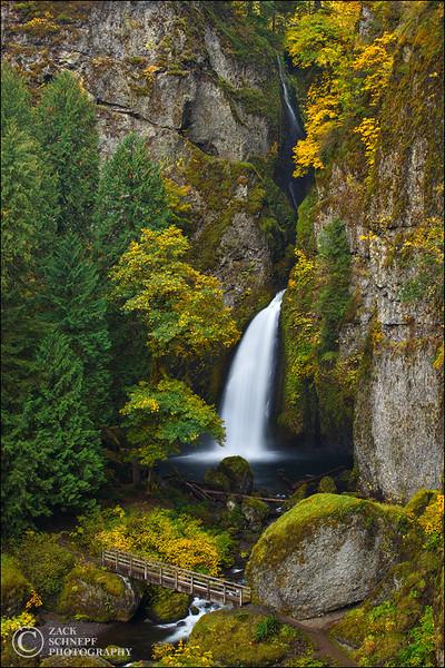"<font color=""#FFFFFF"" size=""4"" face=""Verdana, Arial, Helvetica, sans-serif"">Wahclella Falls Autumn Vertical</font><br> Columbia River Gorge, Oregon"