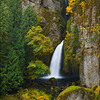 "<font color=""#FFFFFF"" size=""4"" face=""Verdana, Arial, Helvetica, sans-serif"">Wahclella Falls Autumn Vertical</font><br> Columbia River Gorge, Oregon"