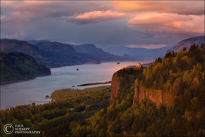 """<font color=""""#FFFFFF"""" size=""""4"""" face=""""Verdana, Arial, Helvetica, sans-serif"""">Renaissance Light</font><br> Columbia River Gorge, Oregon"""
