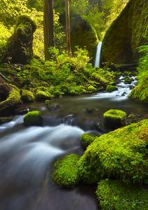 Paradise Falls Vertical Columbia River Gorge, Oregon