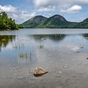 Bubble Mountains and Jordan Pond in Acadia National Park