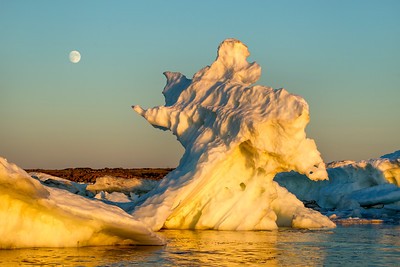 Moonrise above Sea Ice, Hudson Bay, Canada