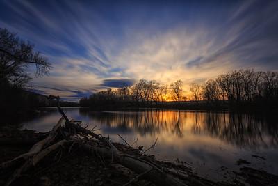 Sunset on the Shenandoah