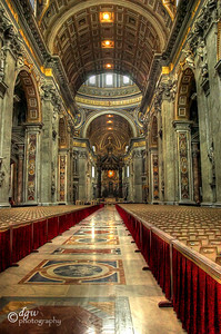 St. Peter's Basilica. Toned Mapped image