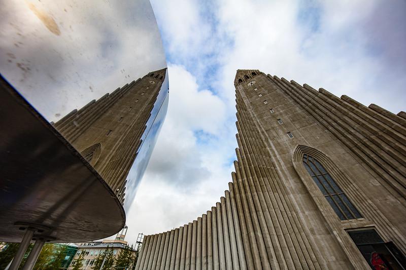 Hallgrímskirkja Church in Reykjavik-