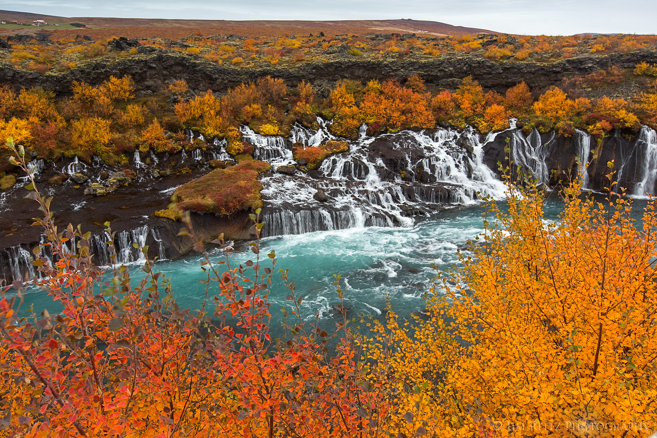 One section of Hraunfossar, west-central Iceland