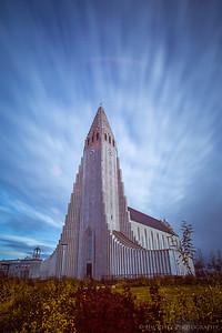 Hallgrímskirkja Lutheran church, Reykjavik. Iceland's tallest building.