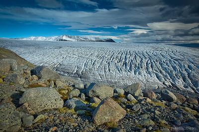 Skallafellsjokull glacier, eastern Iceland.