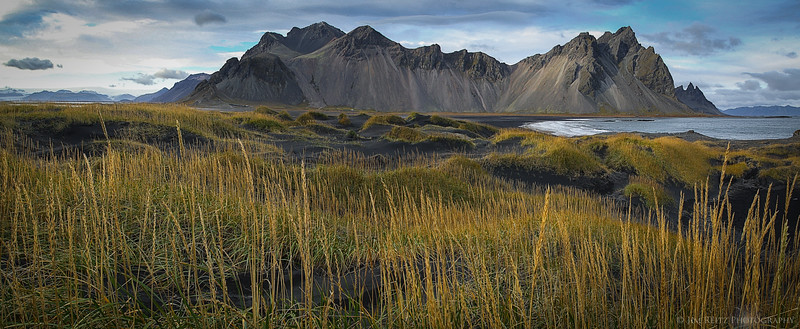 Vesturhorn mountain, on Iceland's east coast.