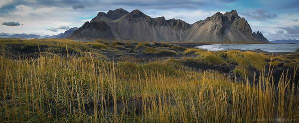 Vesturhorn mountain, on Iceland's east coast.
