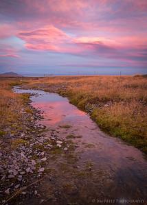 Sunset near Hofn, eastern Iceland