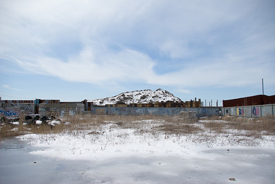 Hill of frozen mud