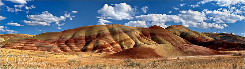 """<font color=""""#FFFFFF"""" size=""""4"""" face=""""Verdana, Arial, Helvetica, sans-serif"""">Painted Hills Pano</font><br> Painted Hills, Oregon"""