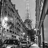 Eiffel Tower at Dusk (Black and White)