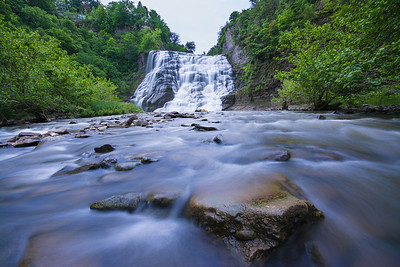 Fall Creek and Ithaca Waterfall - Water was well above my knees and almost lost the camera once in the current.