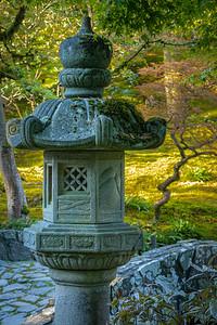 Stone lantern at Seattle Japanese Garden.