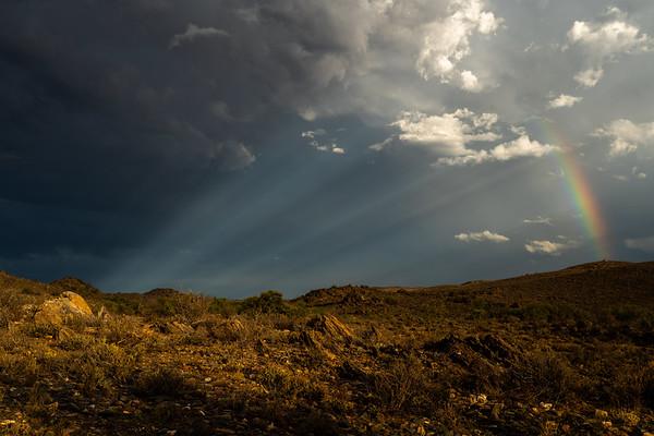 Somewhere over the rainbow, Karoo, Prince Albert, South Africa