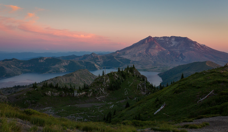 Sunset, Mount St Helens and Spirit Lake