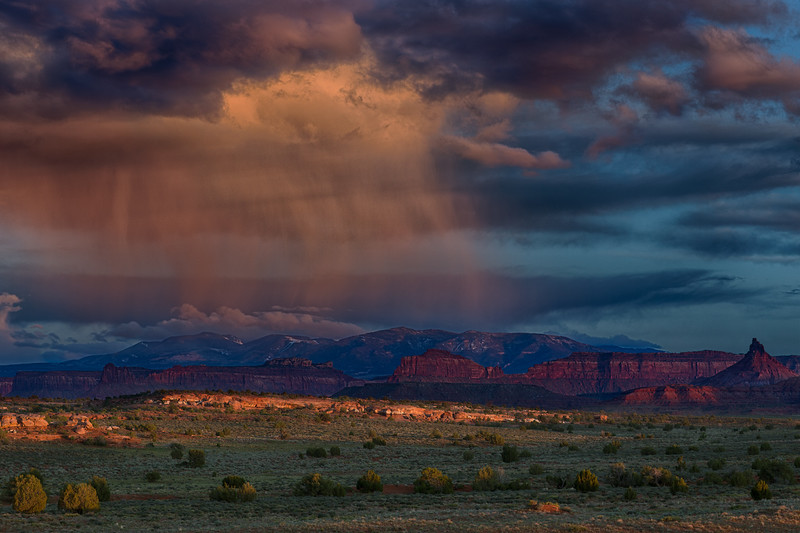 Sun Shower and the La Sal Mountains