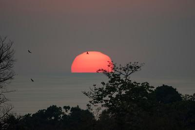 Costa Rican sunset.