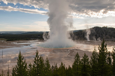 Grand Prismatic Spring Steaming.