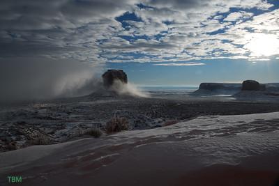 Foggy Merrick Butte Spearhead Mesa