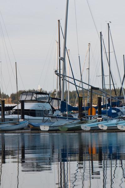 Boat Reflections<br /> Anacortes, WA