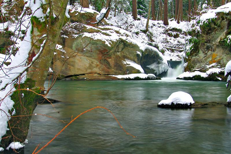 Snowy Pool<br /> Whatcom Falls Park, WA
