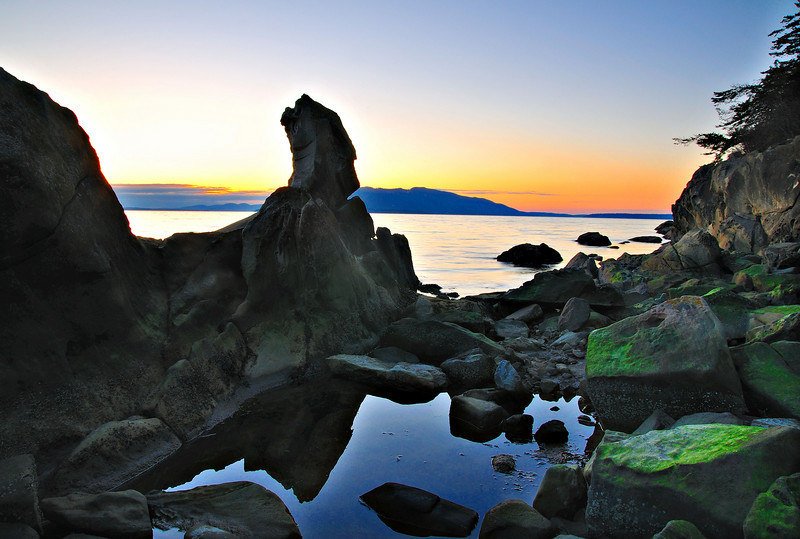 Sunset Reflection<br /> Clayton Beach, WA