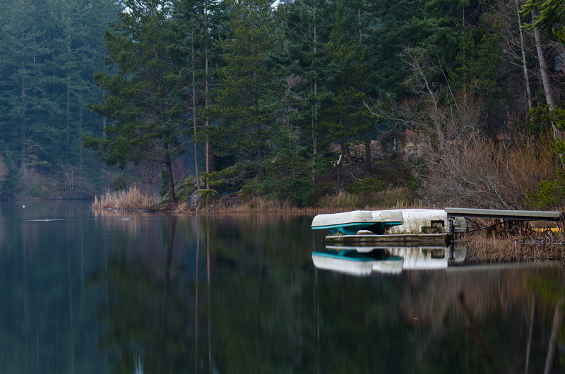 Boat Reflection<br /> San Juan Island, WA