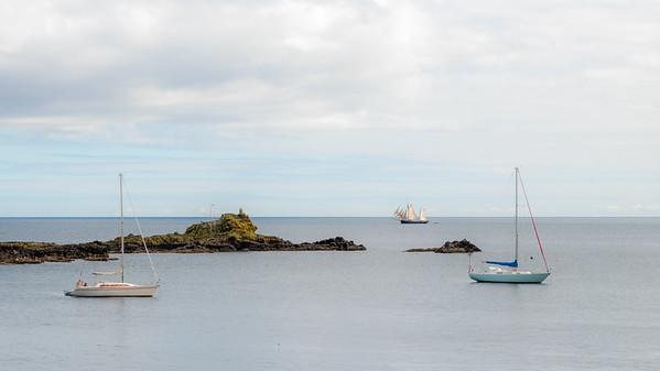 Sailing Boats at Mousehole