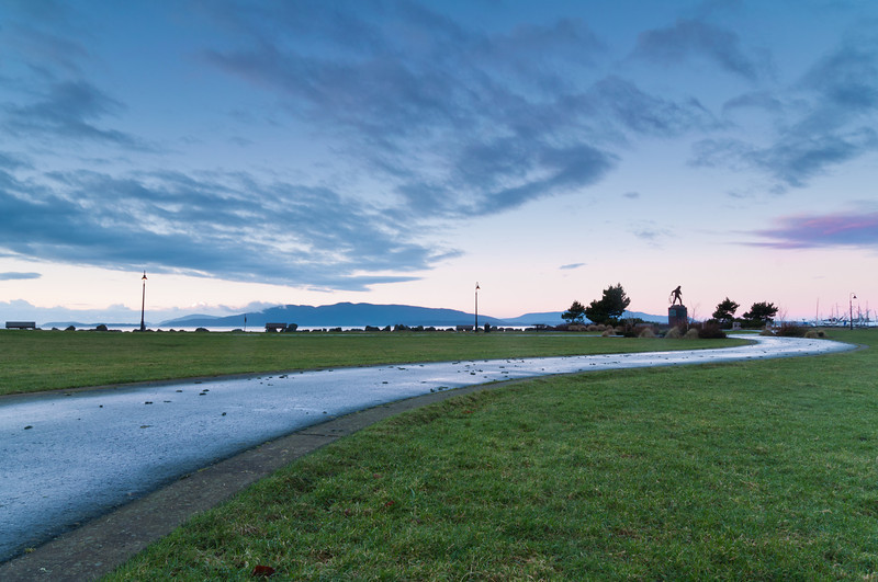 Path at Sunrise<br /> Zuanich Park, Bellingham, Washington