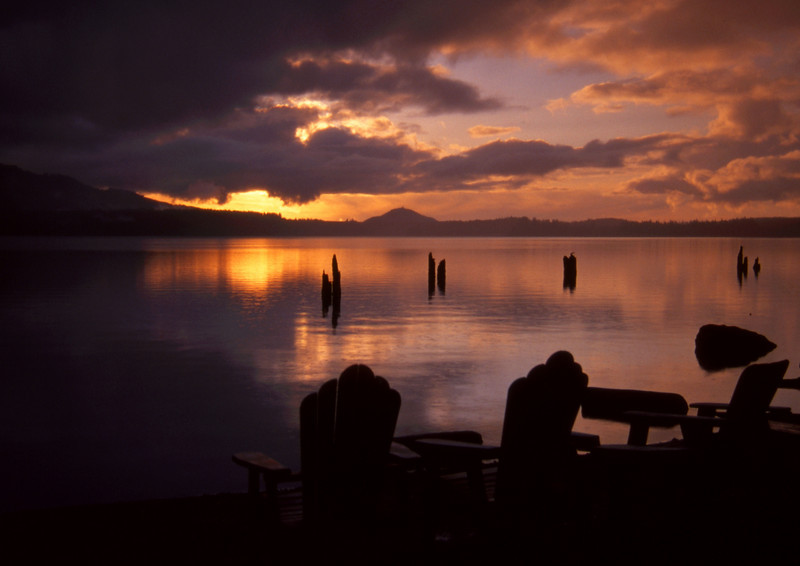 Evening Reflections<br /> Lake Quinault, WA