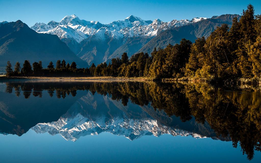 Calm Mornings, Reflections at Lake Matheson, New Zealand 2013