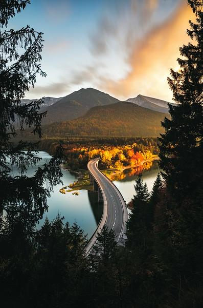 Sylvensteinstausee, Bavaria 2019