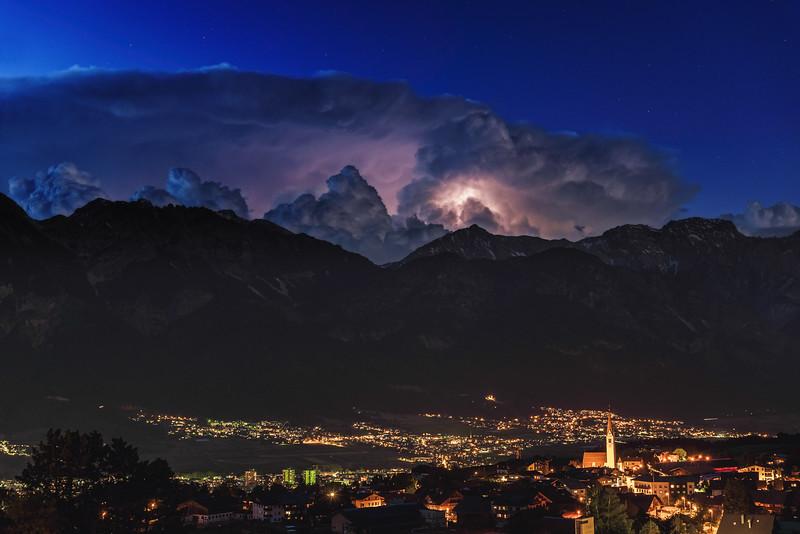 Thunderstorm, Nordkette, Karwendel, Tirol 2018
