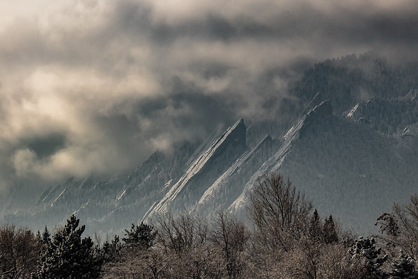Stormy Winter Flatirons