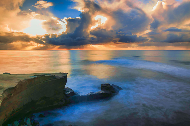 California Sunset (Digitally enhanced)