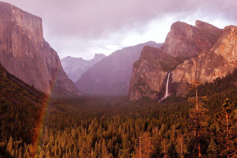 Rain Storm over Yosemite Valley