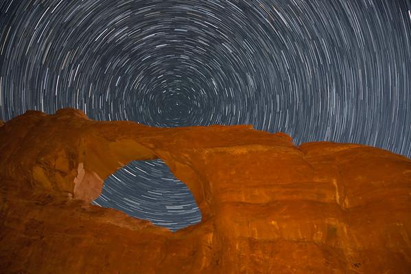 Skyline Arch Star Trail