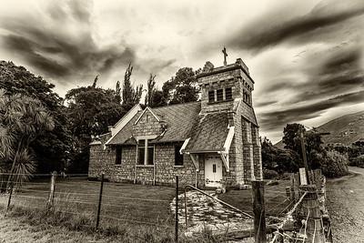Saint Oswald's Church, side sepia