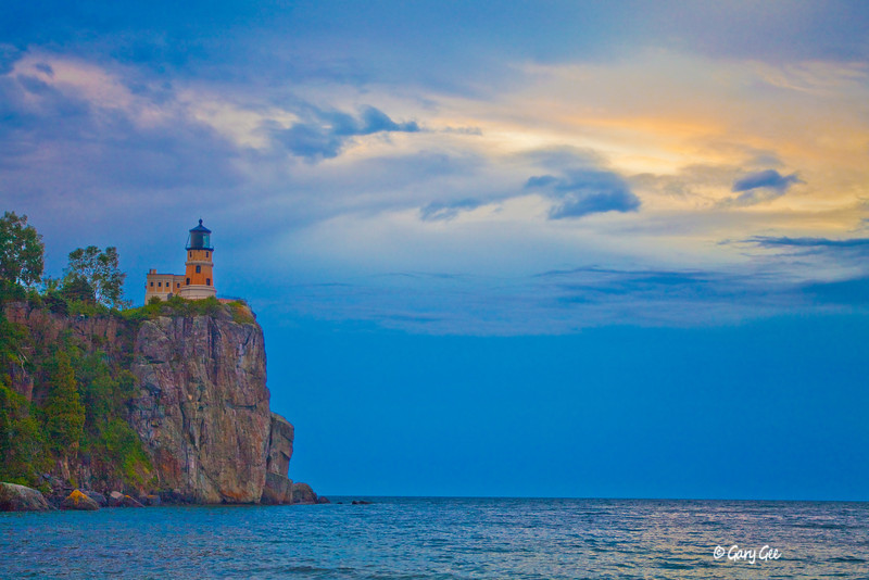 Split Rock Lighthouse on a stormy morning. Lake Superior