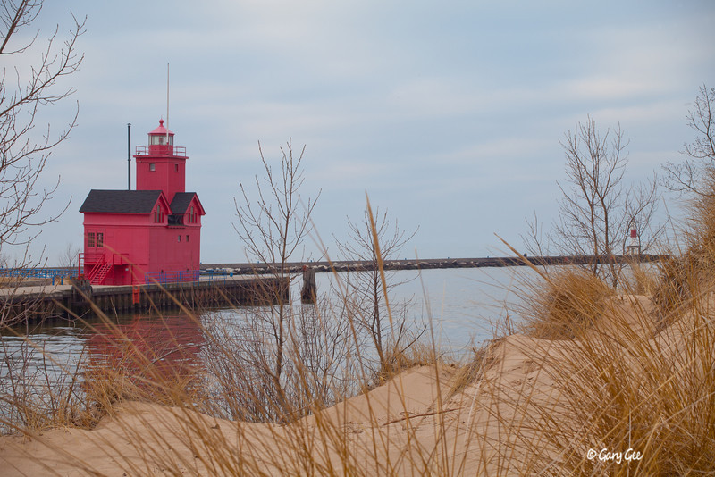 Holland Big Red Lighthouse, Lake Michigan