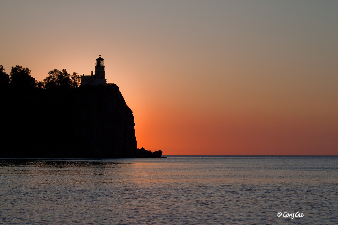 Split Rock Lighthouse, Lake Superior at dawn.