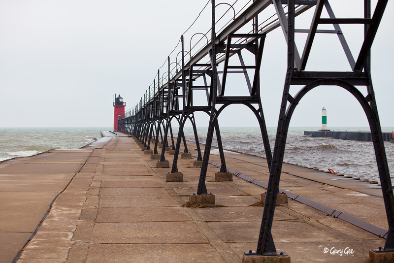 South Haven Pier Lighthouses, Lake Michigan