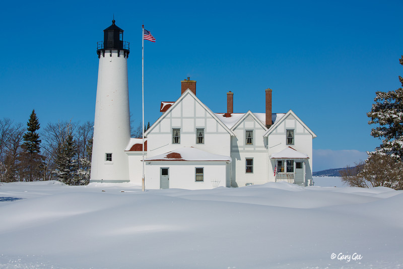 Point Iroquios Lighthouse, Lake Superior, Mi