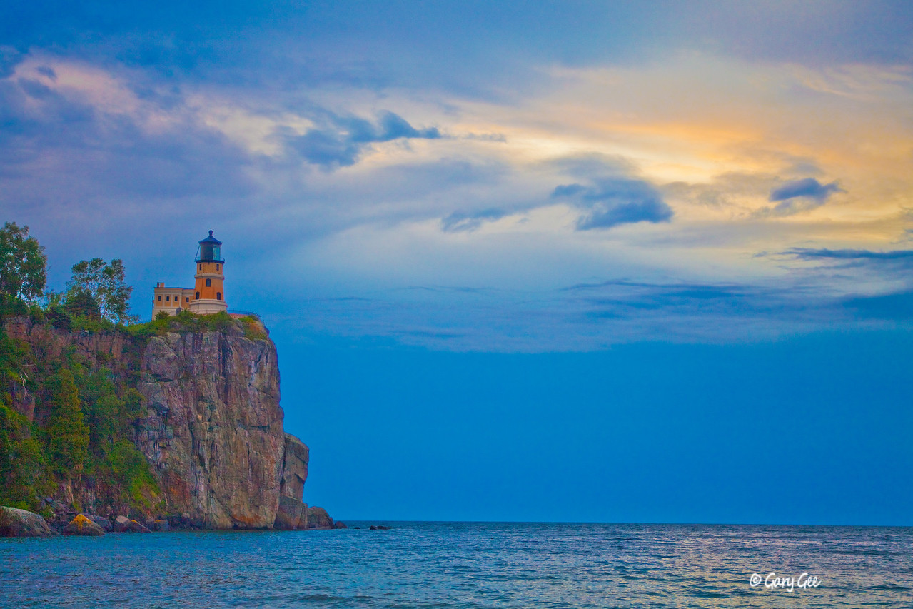 Split Rock Lighthouse on a stormy morning