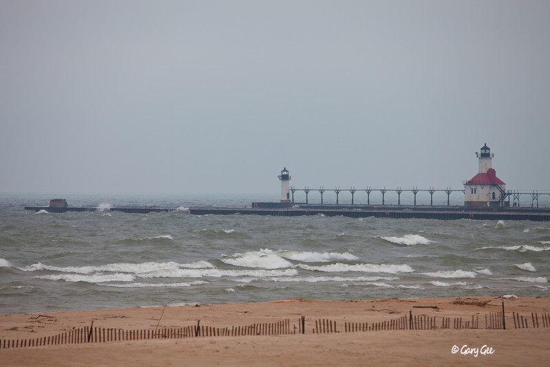 St. Joseph Lighthouse & Pier Marker, Lake Michigan